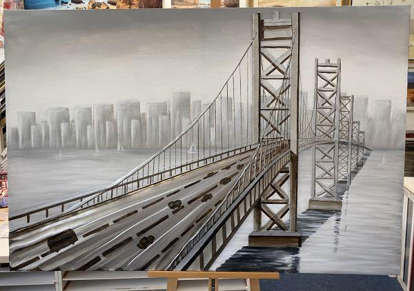 Ölbild Stadt auf keilrahmen 1,50 x 100