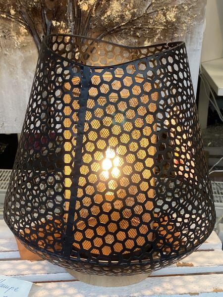 Tischlampe transparent schwarz 30 x 35 cm