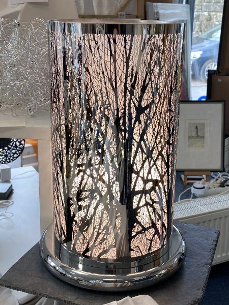 Tischlampe 20 x 40 cm Silber glanz