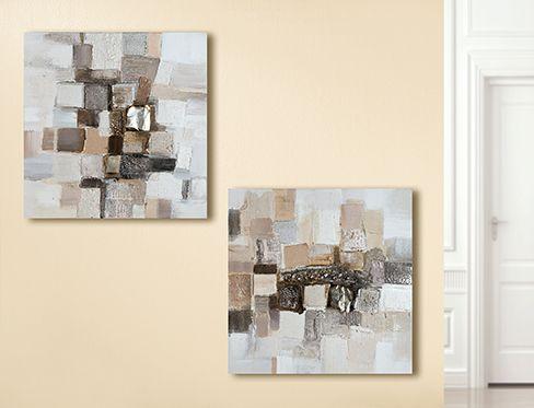 Moderne Bilder im Set 2 Stück 50 x 50 cm x 2,5cm