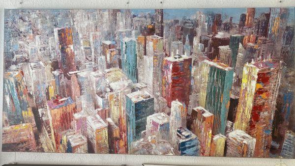 New York 80x160 x 3 cm Ölbild
