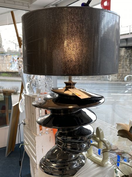 Tischlampe Keramik 70x45 schwarz silber