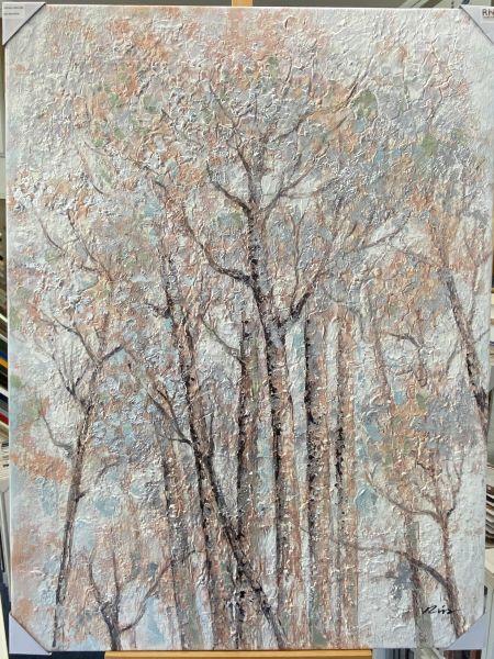 Ölbild Bäume 80 x 120 cm 3 cm Keilrahmen