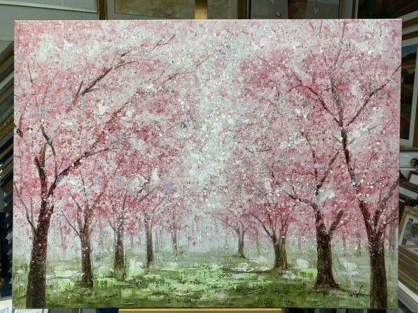 Ölbild Frühling,Bäume 120 x 90 cm 3 cm mit Keilrahmen