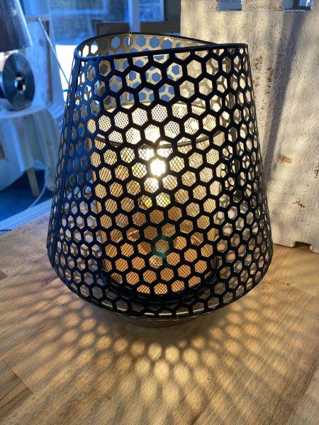 Tischlampe transparent 25 x 26 cm klein